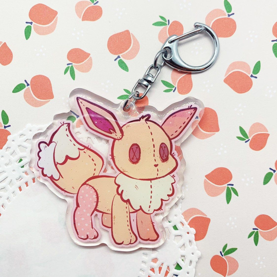 Eeveelution Plush Charms made by BlackberryALaMode -
