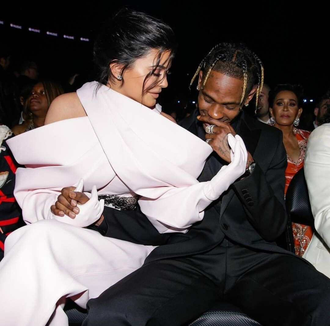 Kylie Jenner and Travis Scott at the 2019 Grammys Kylie