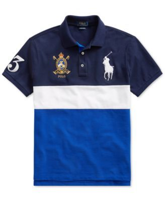 766859fe2bf9cb Polo Ralph Lauren Men's Big & Tall Classic-Fit Mesh Polo Shirt - Blue 2LT