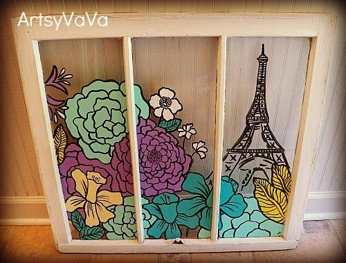 Pariswindow2bg 500380 pixels do it myself pinterest artsy vava paris in springtime painted window find this pin and more on do it myself solutioingenieria Gallery