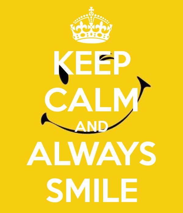 Pildiotsingu keep calm and always smile tulemus