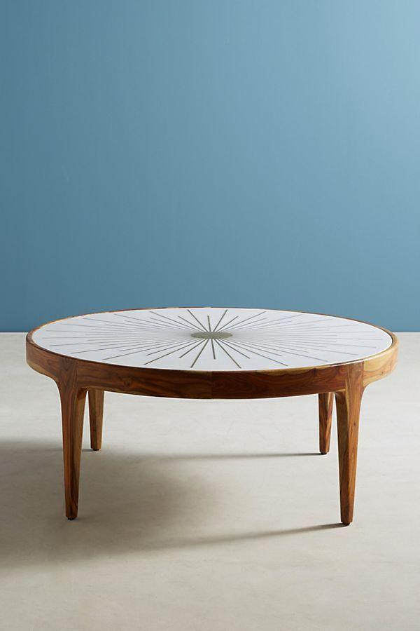 Brass Starburst Round Coffee Table