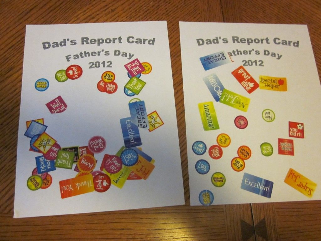 Father S Day Report Card 1 Craft