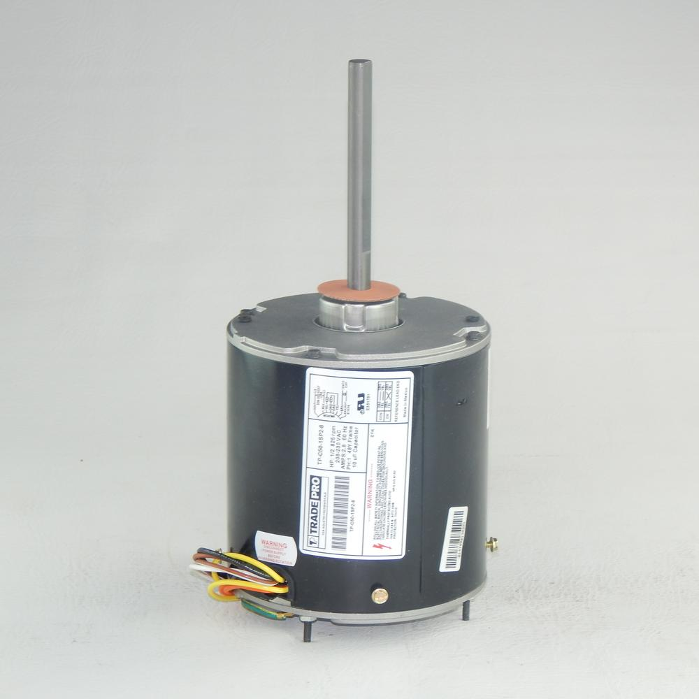 Replacement Condenser Fan Motor 1 2 Hp Single Speed 825 Rpm 230 Volt Fan Motor Hvac Cover Blowers