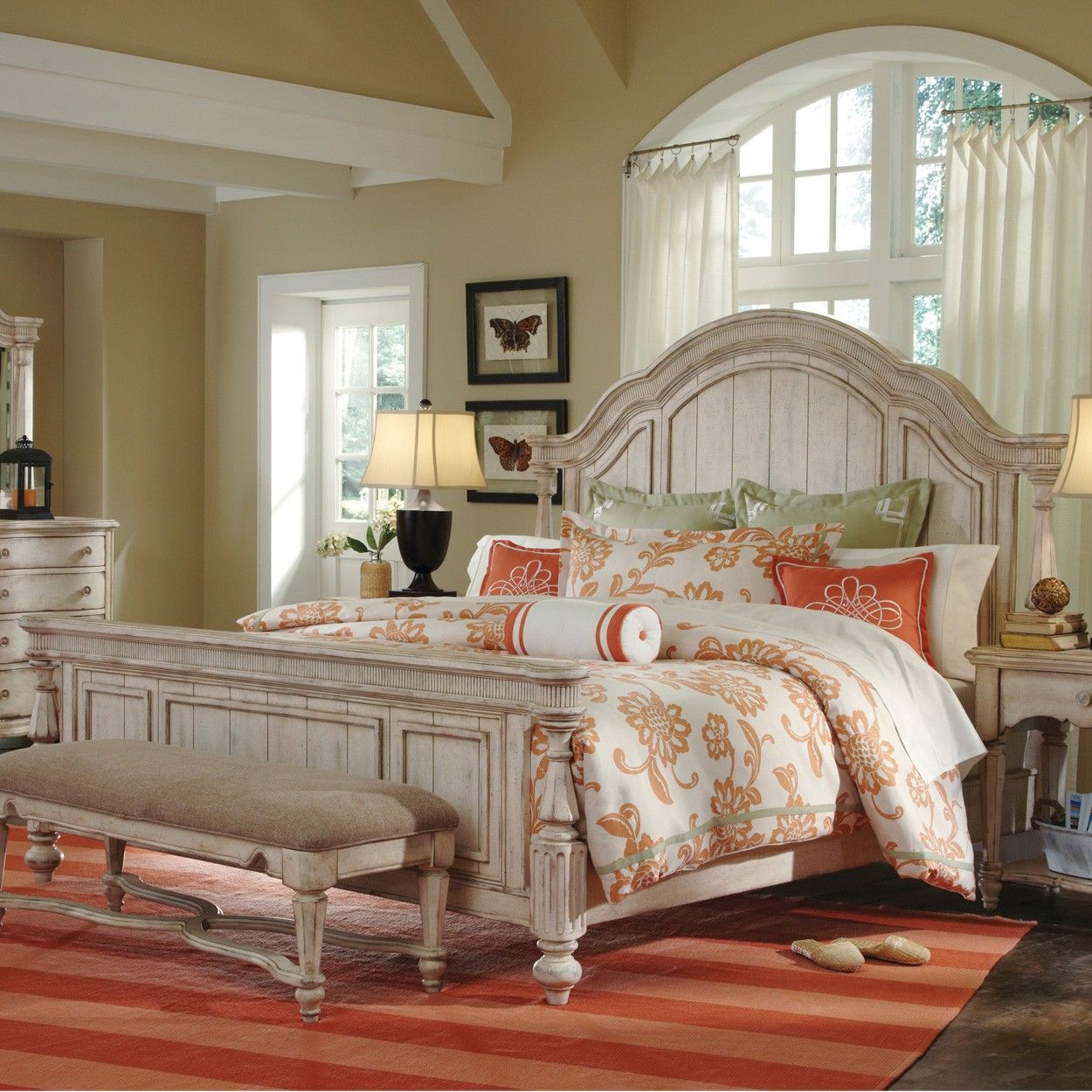 belmar ii wood panel bed in white by humble abode rest and relax