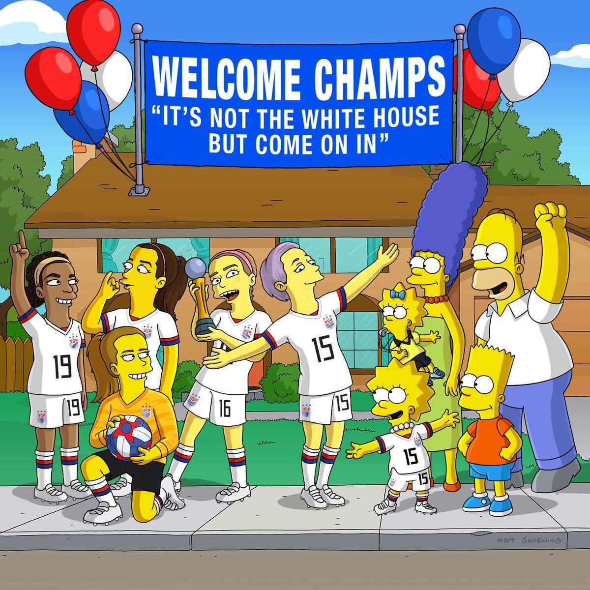 Los Simpsons y Snoop Dogg, del lado de las Campeonas del