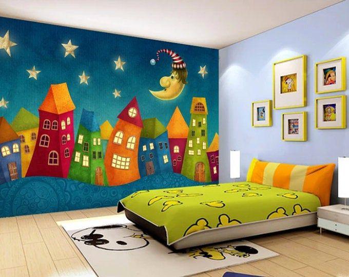 Nursery Wall Mural Wall Art ohpopsi Rainbow Lighthouse Children/'s