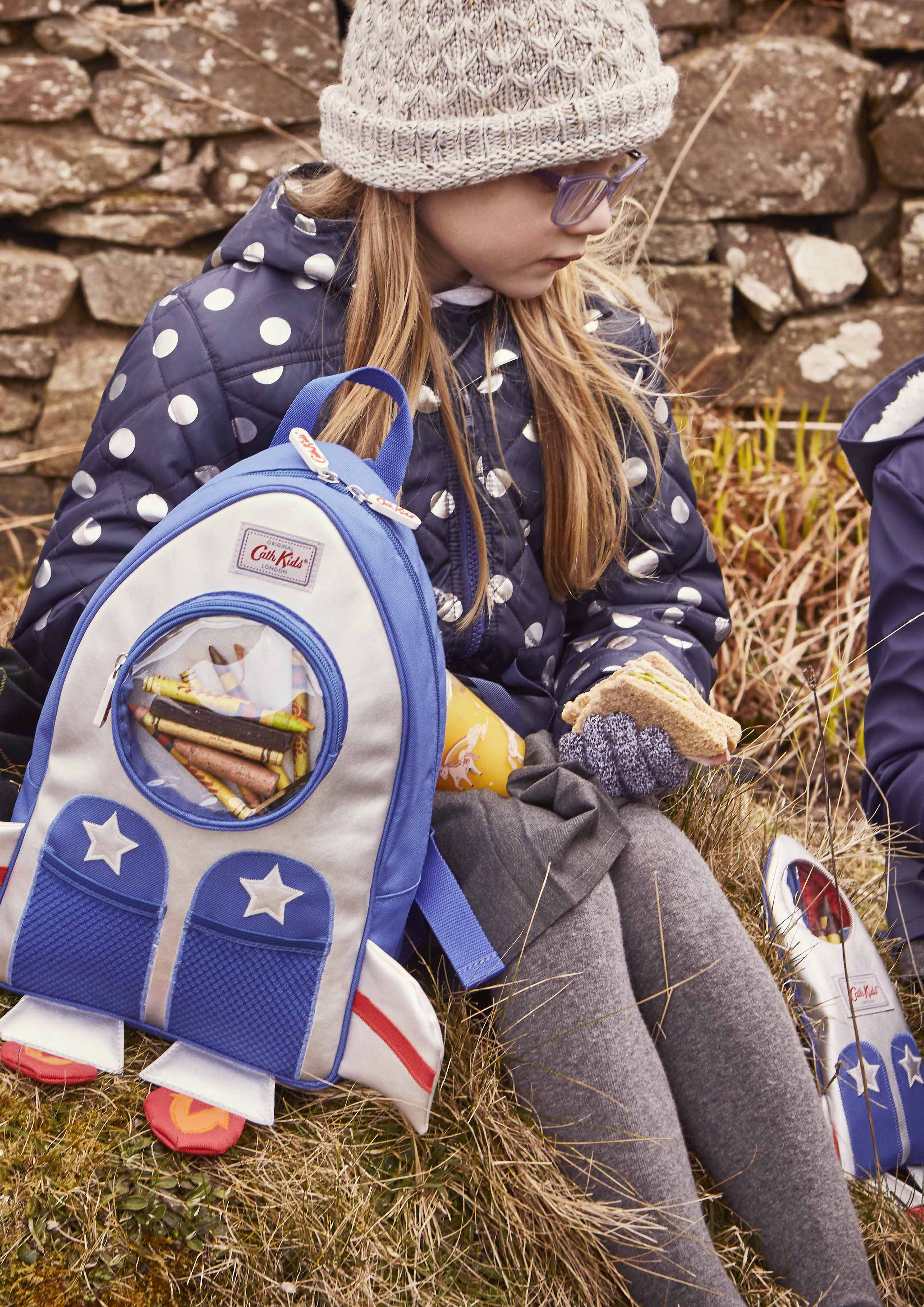 f5382073df Blast off your budding astronaut s back to school kit with this exciting rocket  backpack inspired by our Things That Go Fast print