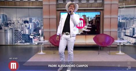 Um dia com Padre Alessandro Campos - TV Gazeta