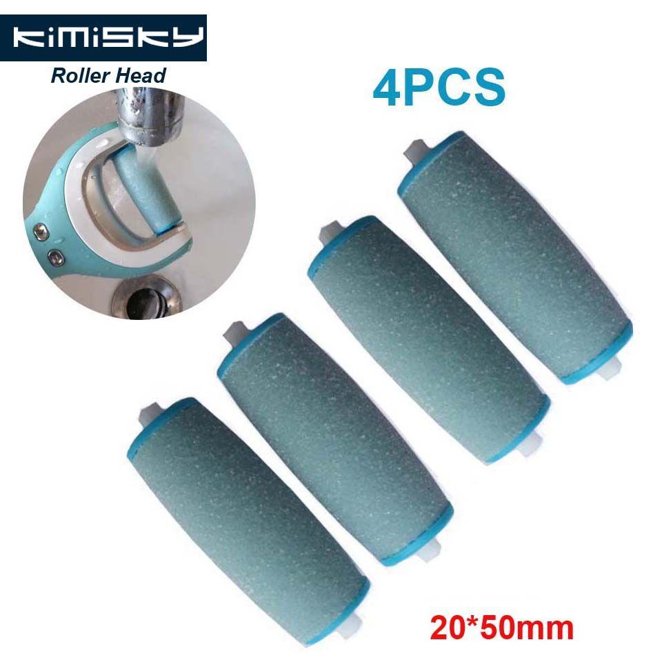 2016 blau fußpflege werkzeug roller Köpfe Kimisky pediküre herramientas harte walzenköpfe für scholls größe 4 stücke Freies Verschiffen