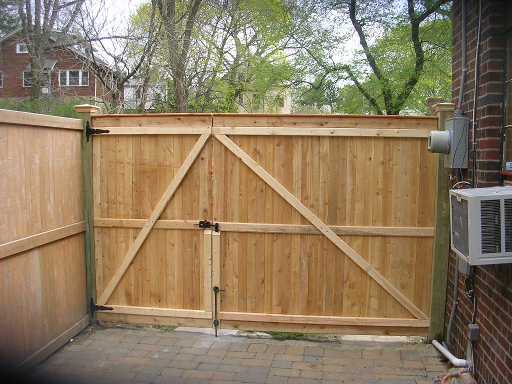 Wooden privacy gates fence gate designs yard