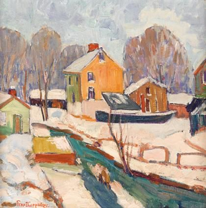 """""""December,"""" Fern Isabel Coppedge, oil on canvas, 12 1/8 x 12 1/8"""", private collection."""