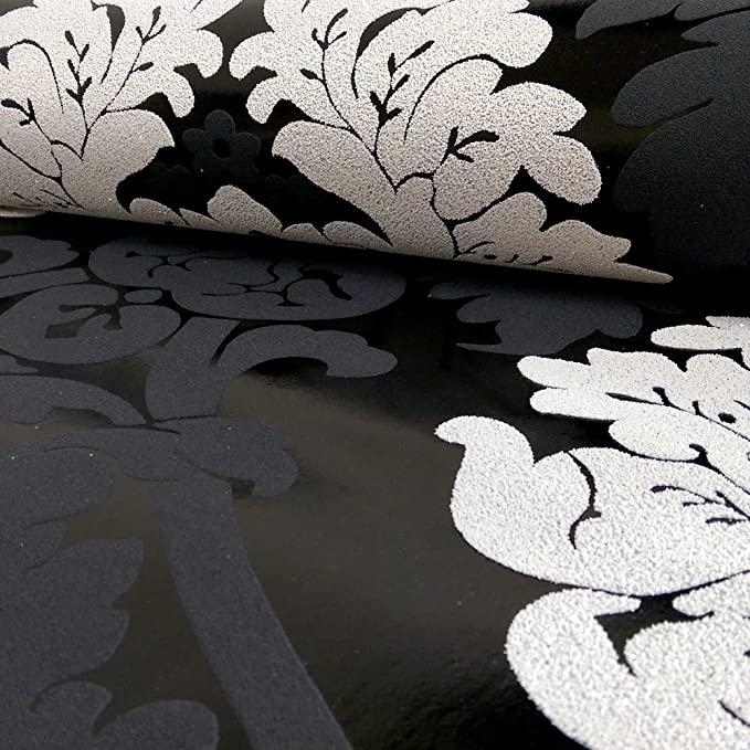 AS Creation Damask Pattern Wallpaper Floral Leaf Embossed