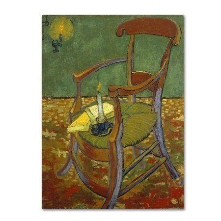 Trademark Fine Art Gauguins Chair Canvas Art by Van Gogh Size 35 Ideas - Fresh canvas chair Review