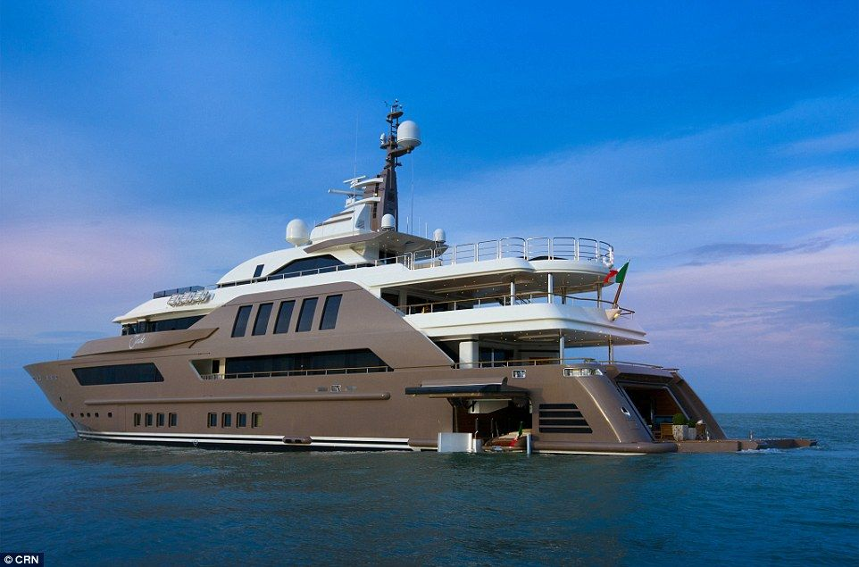 196-foot mega yacht features first floating drive-in garage