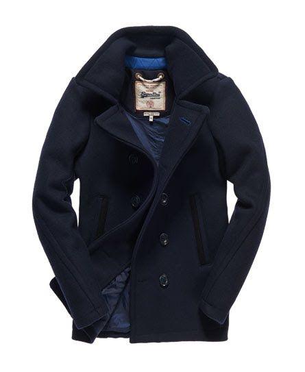 47cf1792f Superdry Caban Premium Bleu Marine | Vêtements in 2019 | Mens wool ...