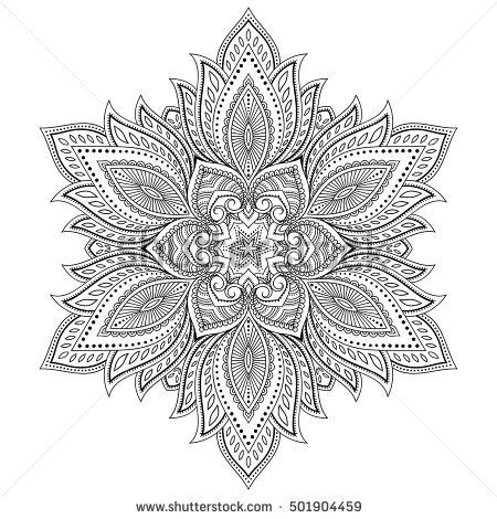 Vector henna tatoo mandala. Mehndi style.Decorative pattern in ...