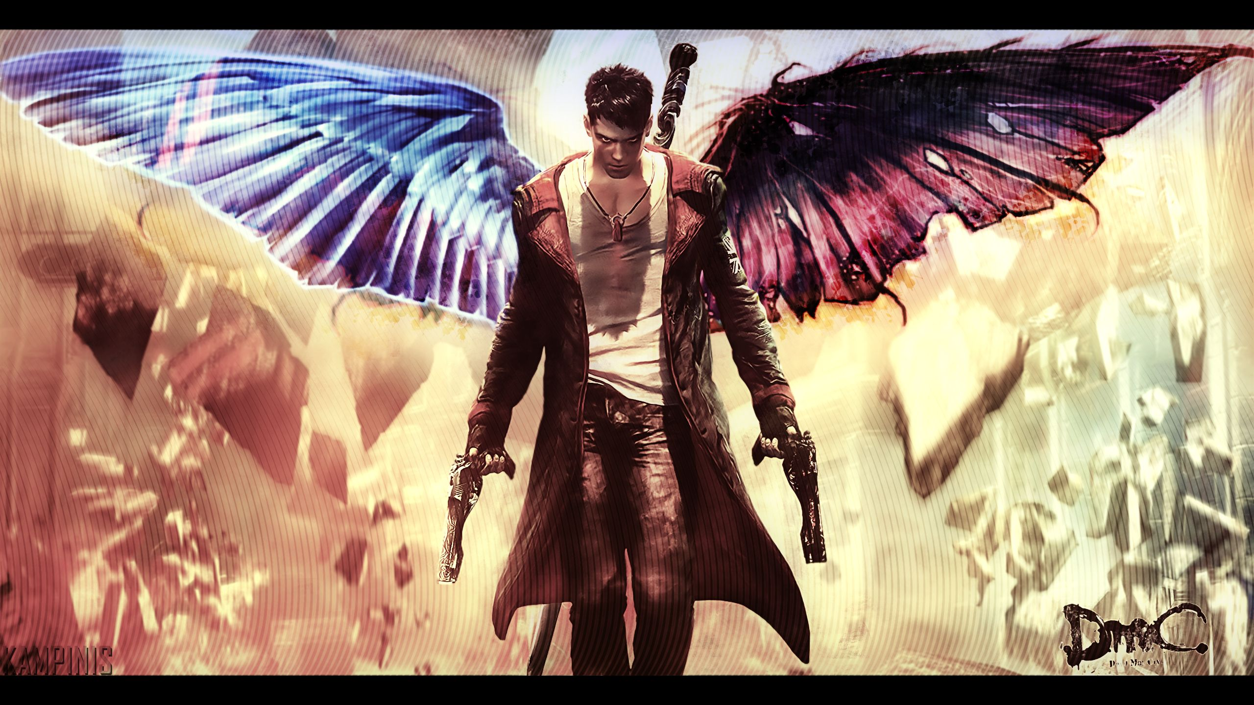dmc devil may cry dante with wings by kampinis on deviantart