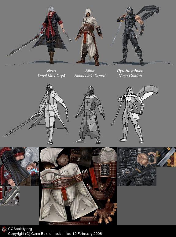 Freelance Low Poly Character Artist Seeking Paid Job Game Artist Forums Personaje En 3d Diseno De Videojuegos Diseno De Personajes