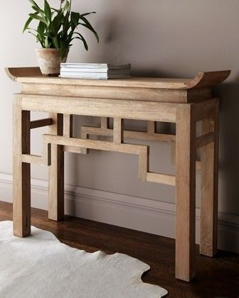 Console table lime washed mango wood interior design decor pinterest chinese furniture Lime washed bedroom furniture