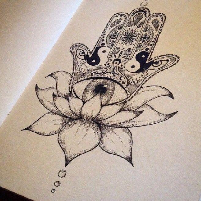 a9c117958 Hamza hand, all seeing eye, ying yang | Tat ideas | Hamsa tattoo ...