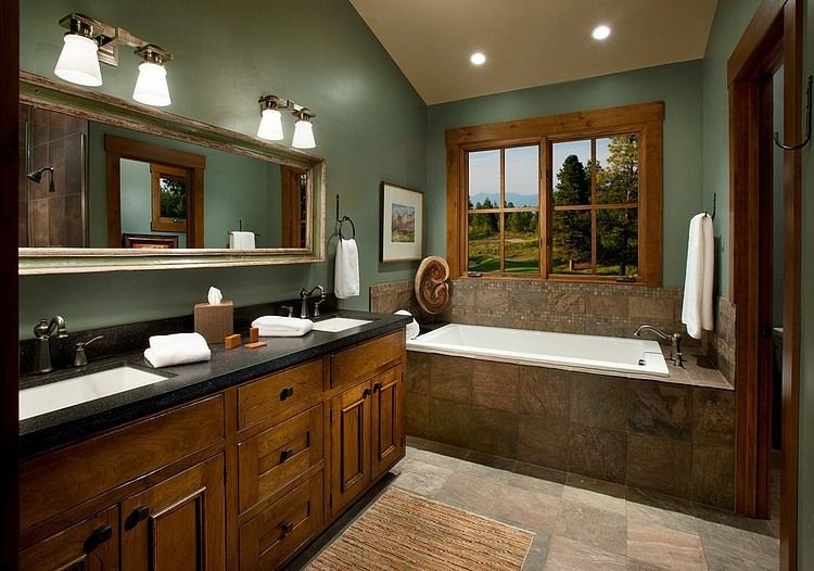 Wilderness Club By Hunter And Company Interior Design Homeadore Bathroom Color Schemes Green Bathroom Green Bathroom Colors
