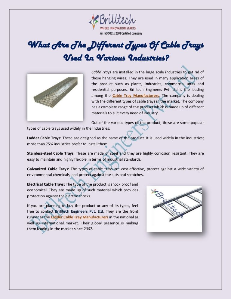 What Are the Different Types of Cable Trays Used in Various ...