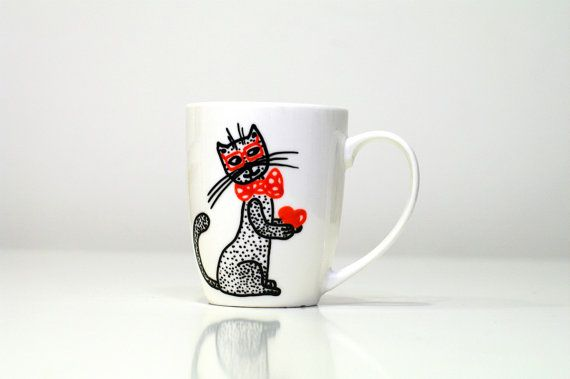 Unique coffee mugs cat mug unique coffee mug t for mom Illustrate