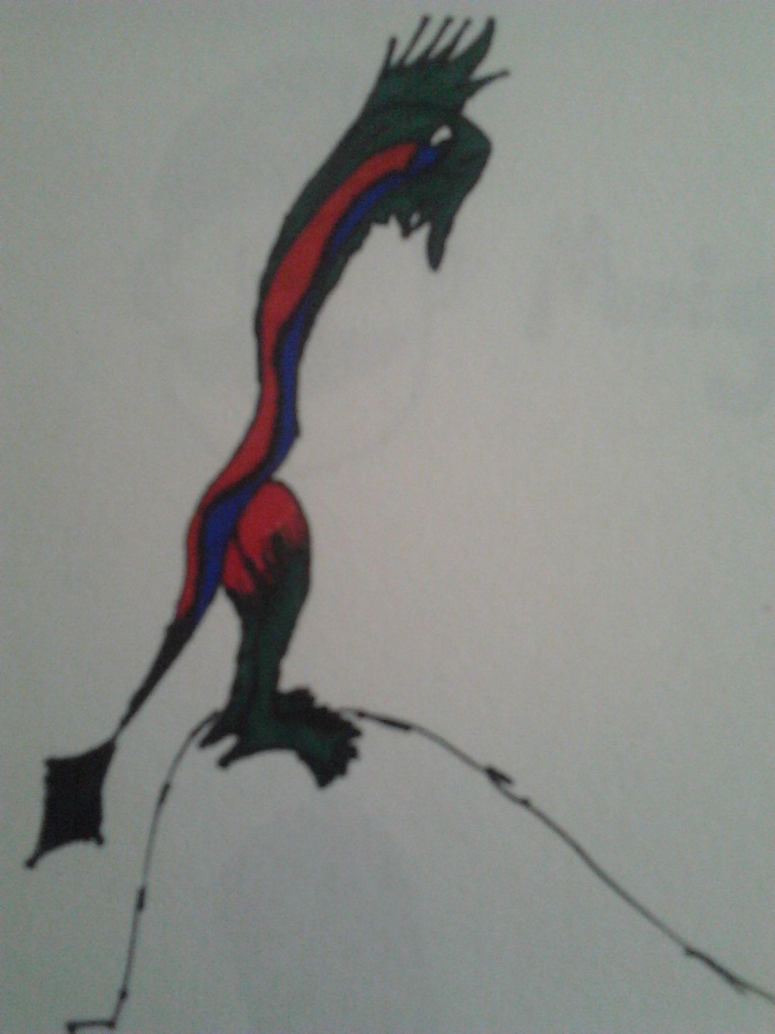 An armless alien