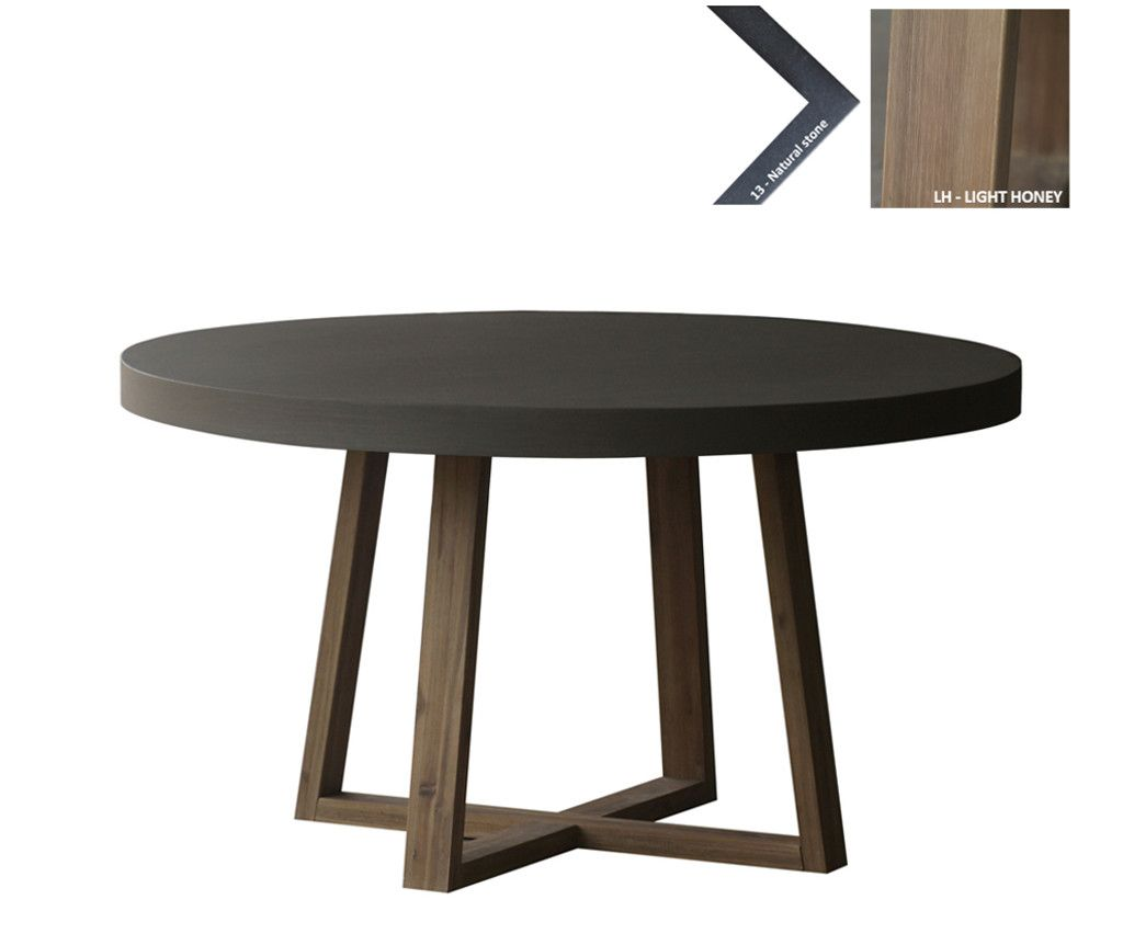 Ronde design eettafel loungeset 2017 for Eettafel rond