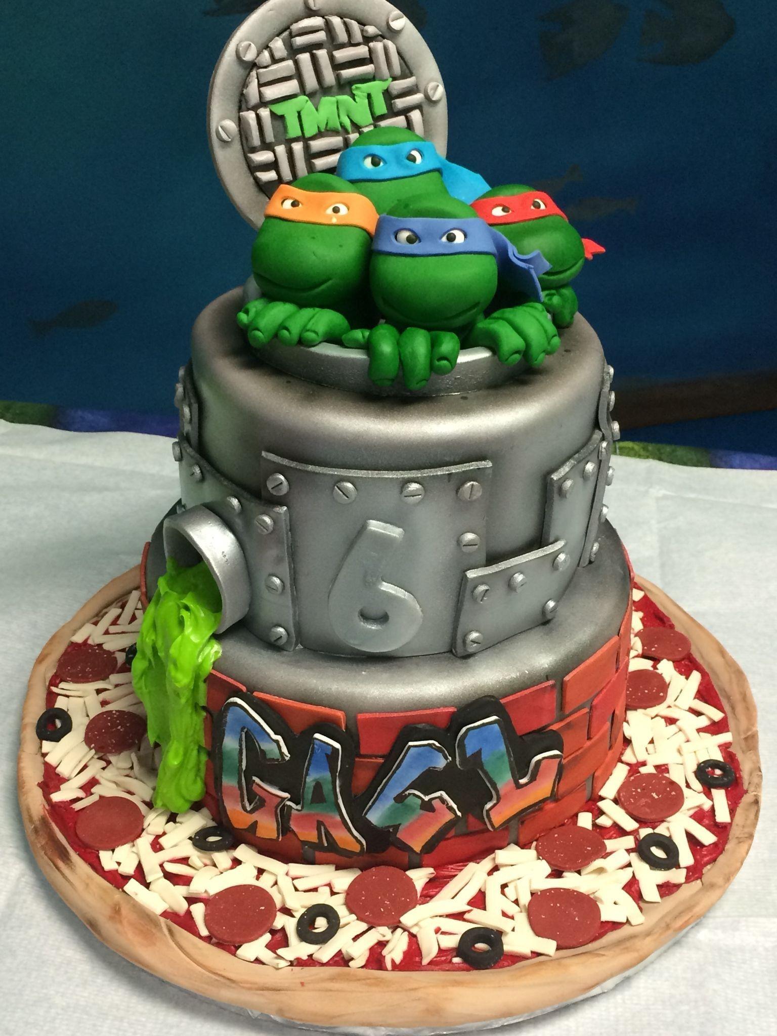 Super Ninja Turtle Birthday Cakes Ninja Turtles Cake Boys Pinterest Funny Birthday Cards Online Aeocydamsfinfo