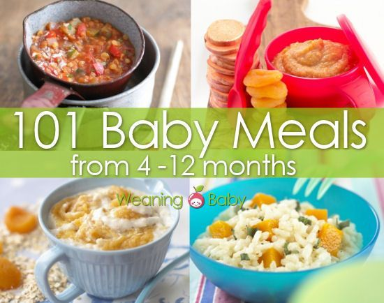 food ideas for 4 12 month old babies