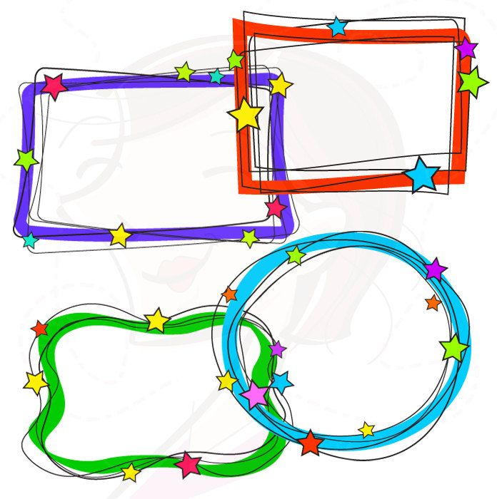 whimsical frames christmas borders clipart digital doodles hand rh pinterest co uk