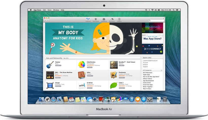 Apple united kingdom os x mavericks mac app store