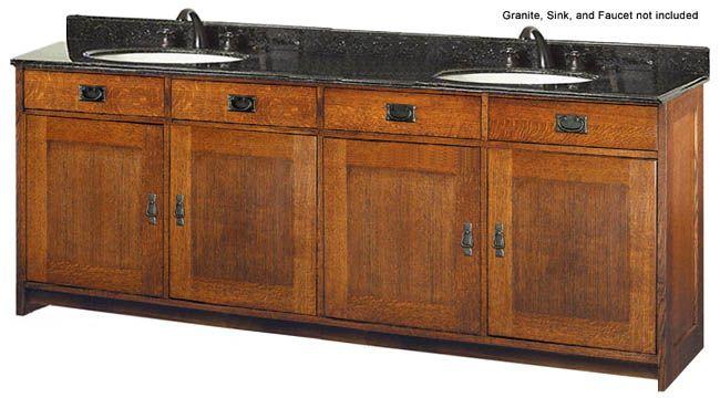 Bathroom Double Sink Vanities Style Furniture Oak Calabasas