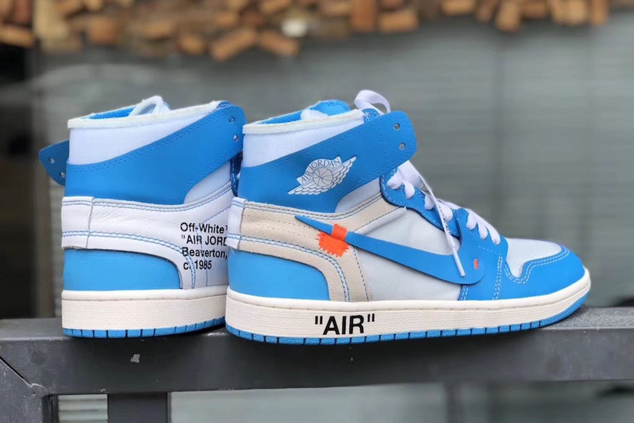 "New Images: Virgil Abloh x Air Jordan 1 ""UNC"" 