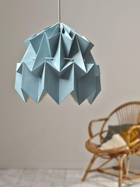 Suspension origami deco decoration suspension origami bleu