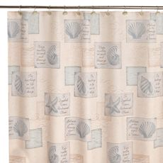Inspirational Shores 70-Inch x 70-Inch Shower Curtain - Bed Bath & Beyond $29