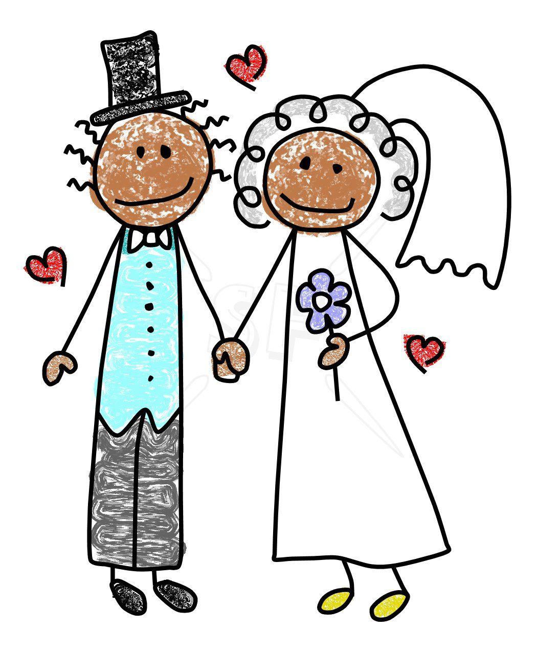 Bride & Groom Doodles