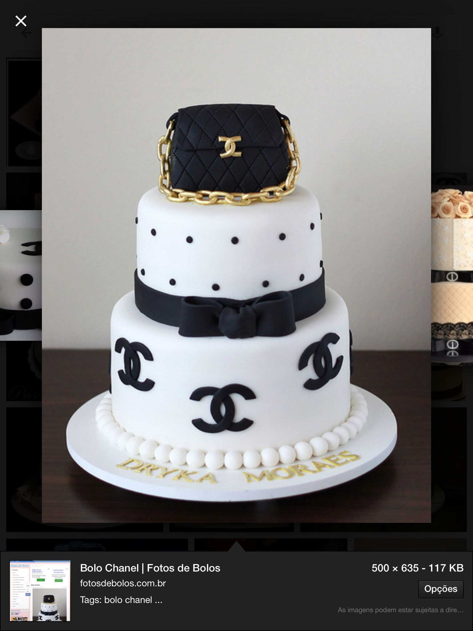 Chanel cake chadecozinha chanel