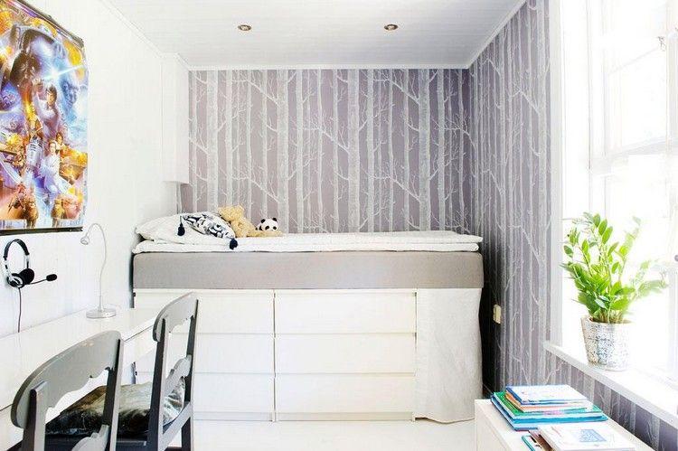 Malm Kommode Für Ein Elegantes Hochbett Im Kleinen Schlafzimmer