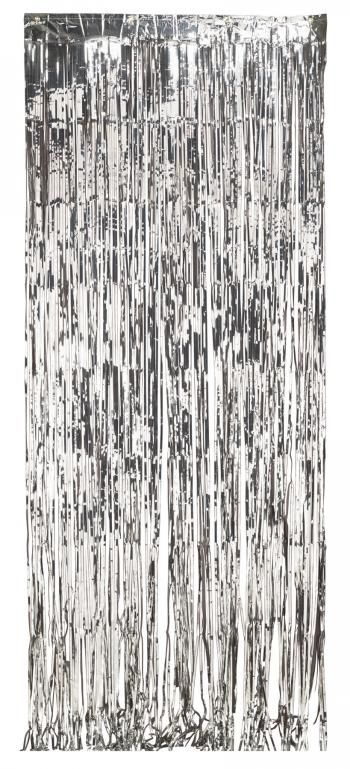 Item Ps 141009 Foil Door Curtain Silver 8 X3 6 Ct General Party Decorations With Images Door Curtains Curtains Curtain Fringe