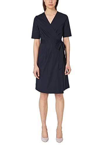 S Oliver Black Label Damen 11 904 82 8923 Kleid Blau True Blue 5959 Herstellergrosse 38 Kleider Kleid Arbeit Damen