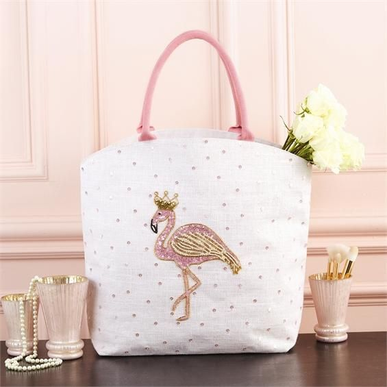 Flamingo Beaded Sequin Bag  ace2dcf75e722
