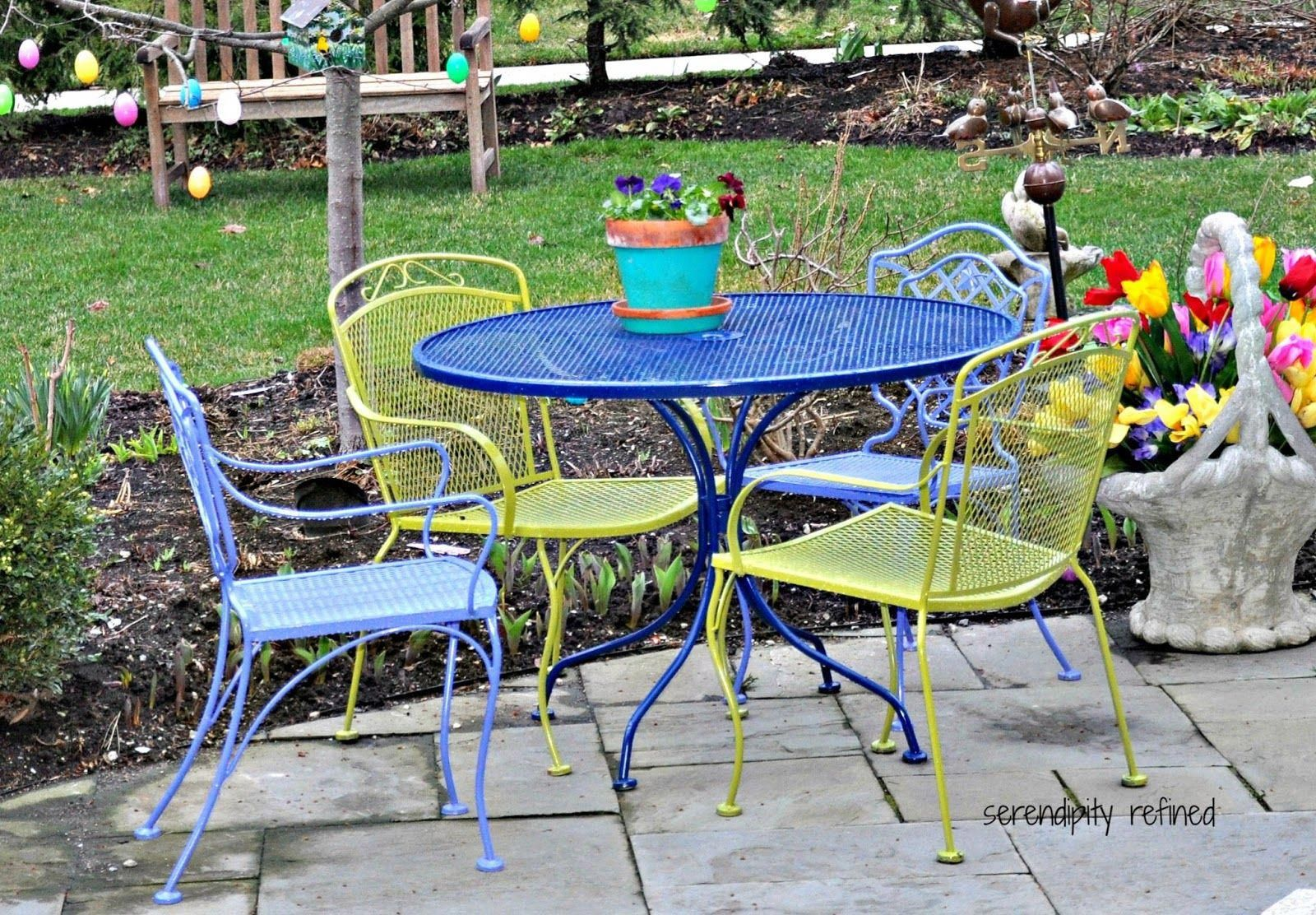 vintage wrought iron patio chairs | colorful+outdoor+patio+furniture