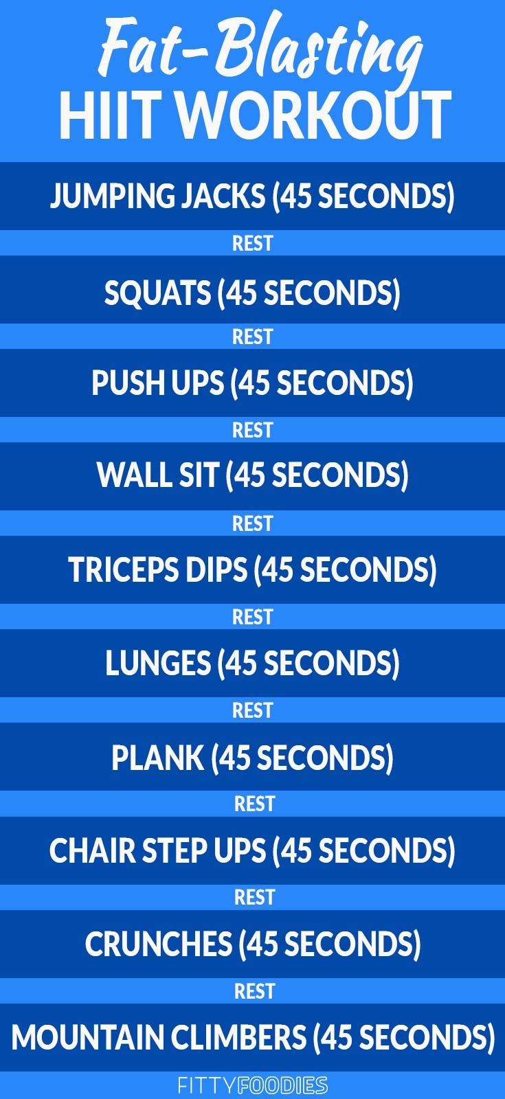 Photo of 10 Minute Fat Burning HIIT Workout – FittyFoodies