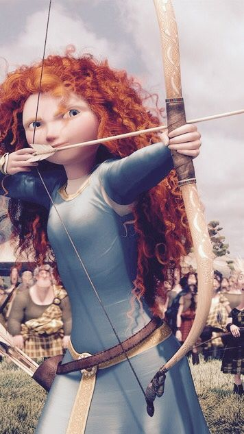 I am Merida, first born descendant of clan DunBroch, and I'll be shooting for my own hand!