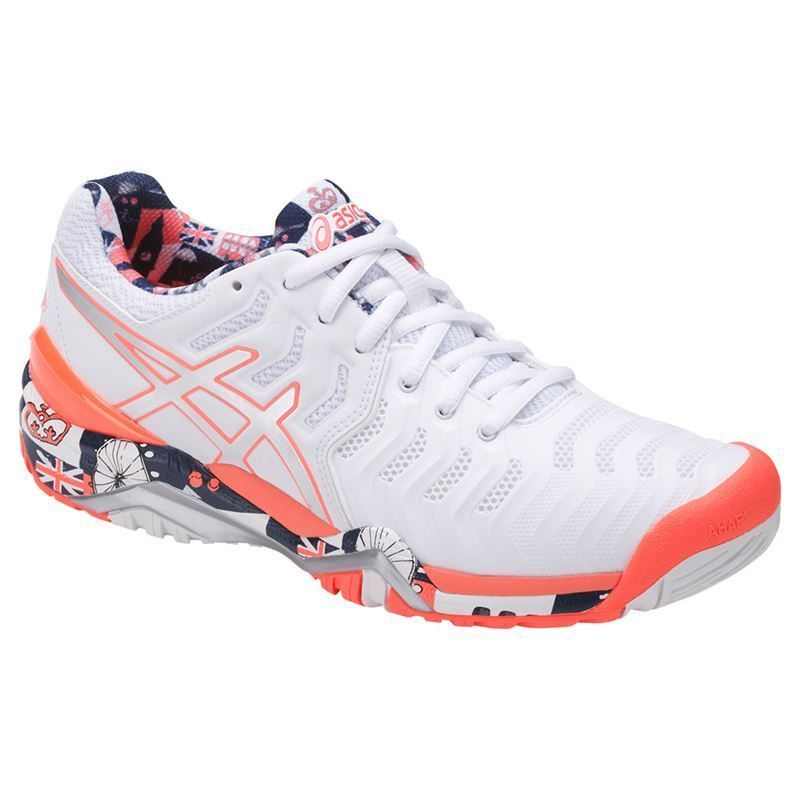 Asics Gel Resolution 7 Limited Edition London Women S Tennis Shoe E765y 0193 Asics Tennis Shoes Adidas Shoes Women Womens Tennis Shoes