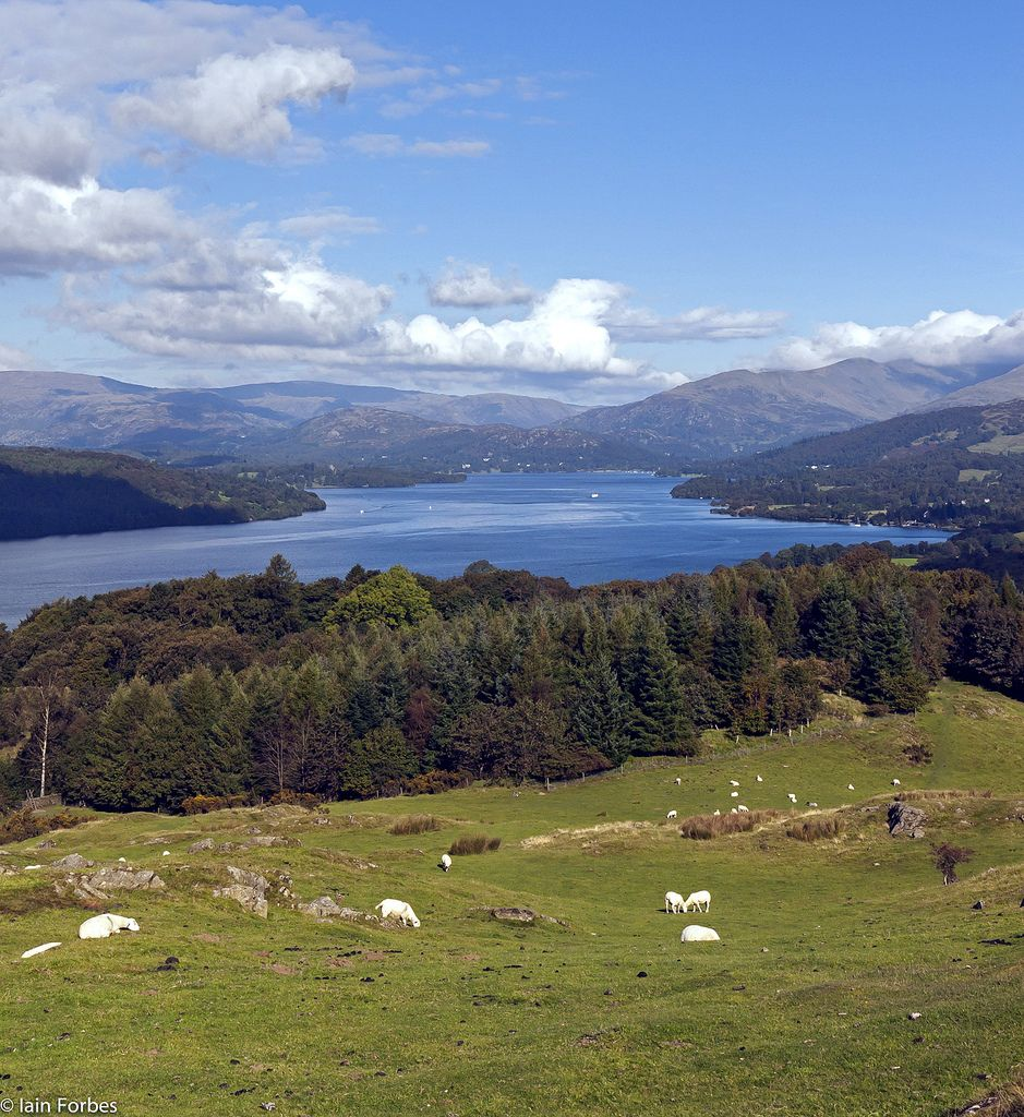 Windermere from Brant Fell, Cumbria, England