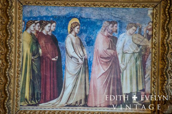 Amazing Vintage Italian Art Print Giotto Di by edithandevelyn